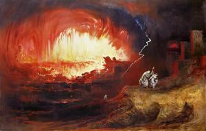 The Destruction of Sodom and Gomorrah - John Martin - 1852